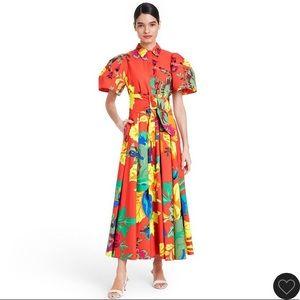 Christopher John Rogers Floral Shirt Dress SOLDOUT